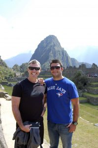 Steve and Alex at Machu