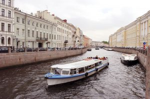 Canal boat in St. Petersburgh