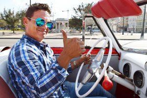 Rafael at the wheel
