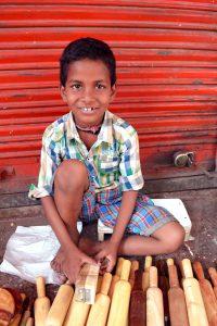 boy at market