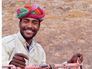 smiling elephant driver