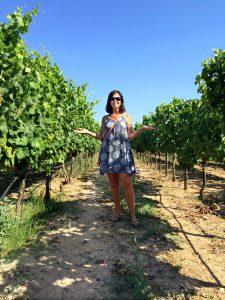Kerry in vineyard